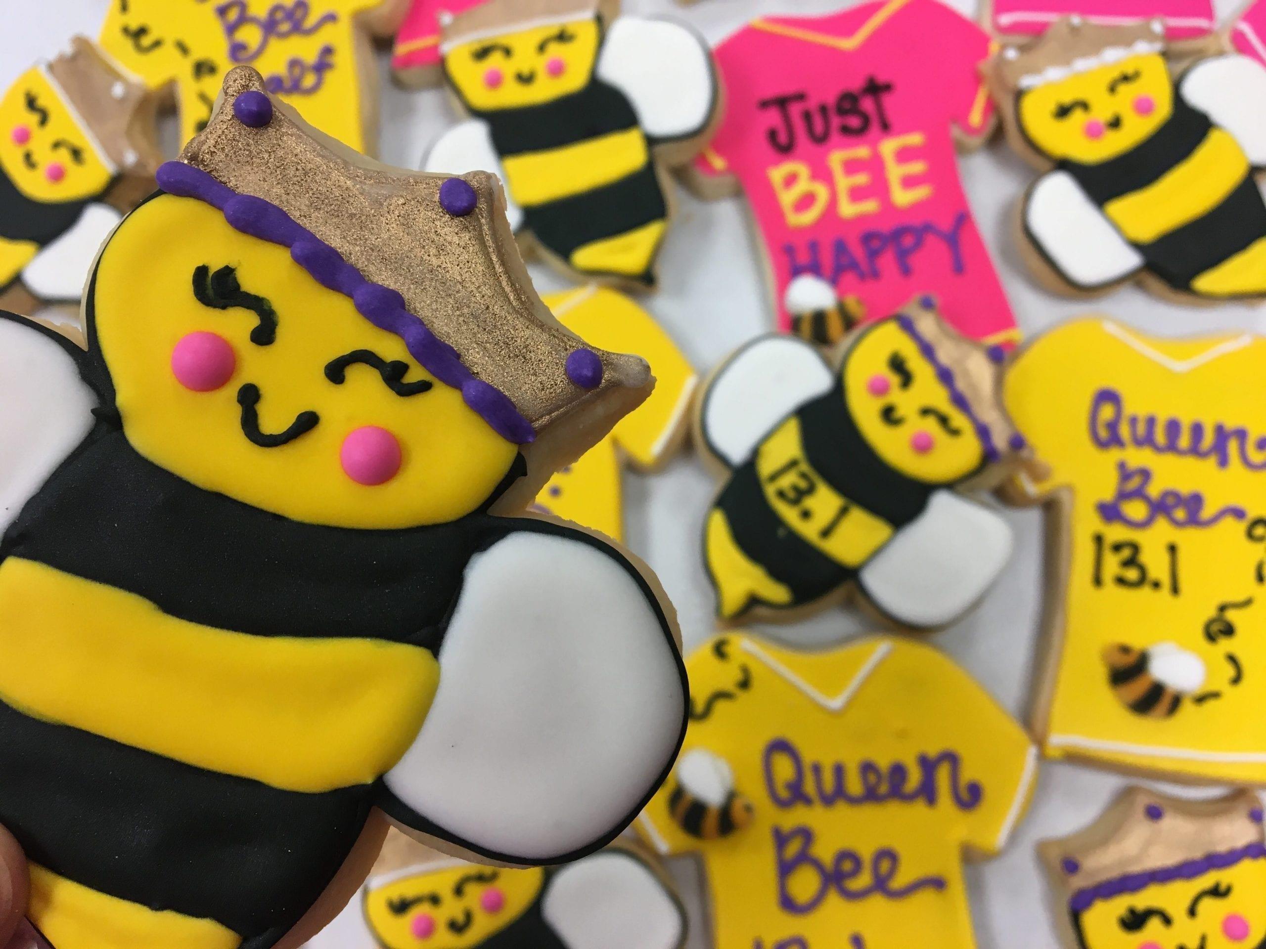 Queen Bee Cookies   3 Sweet Girls Cakery