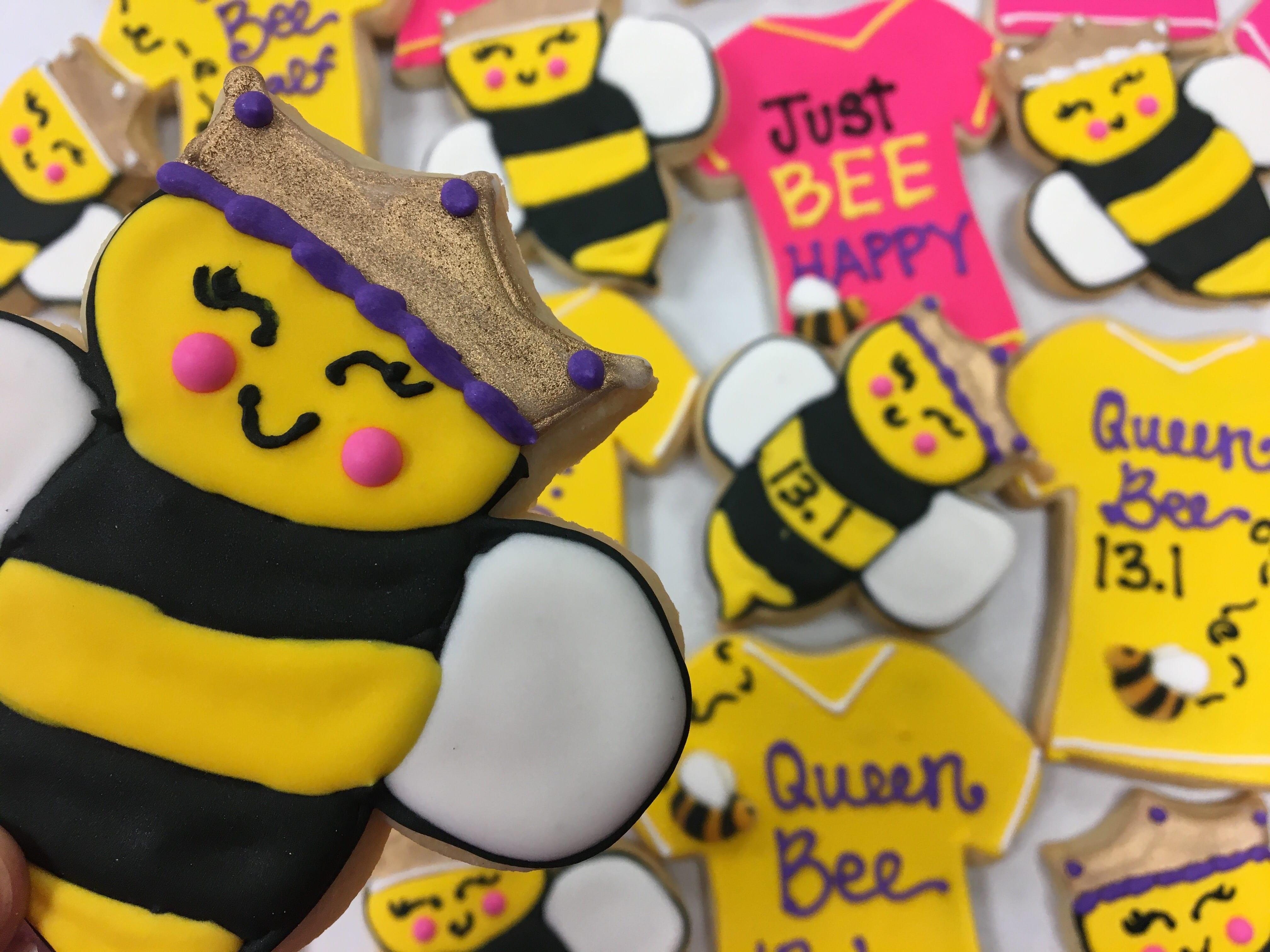 Queen Bee Cookies | 3 Sweet Girls Cakery