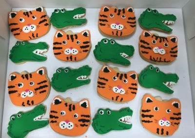Alligator and Tiger Cookies | 3 Sweet Girls Cakery
