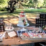 Rustic Wedding Dessert Table by 3 Sweet Girls Cakery