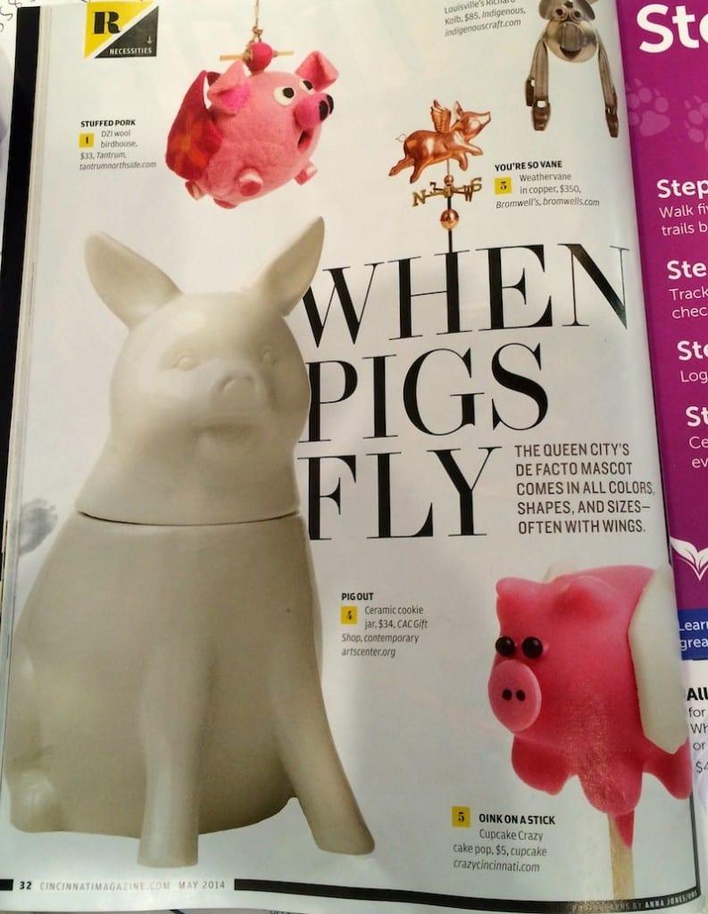 flying pig cake pops