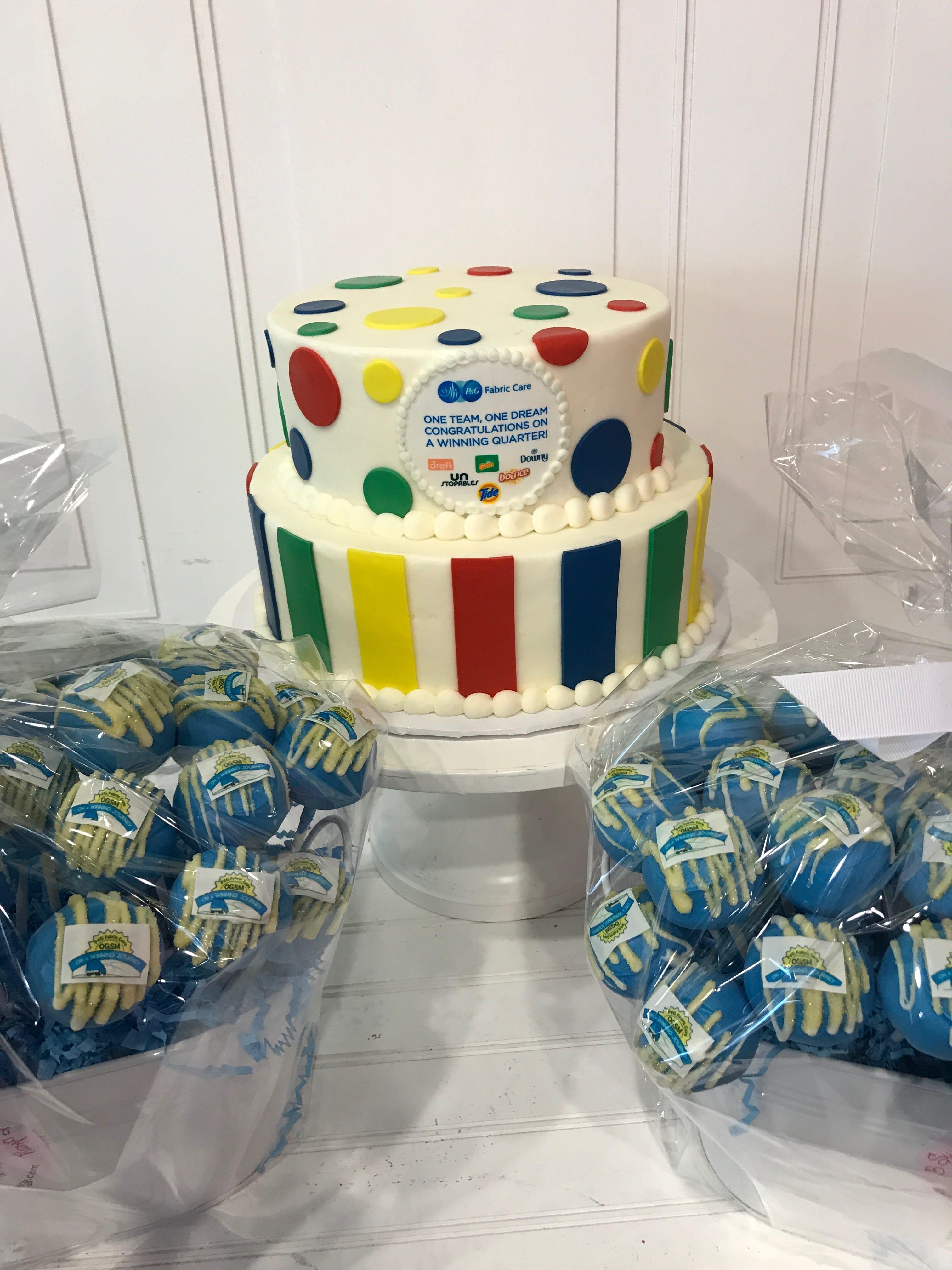Corporate Logo Cake and Cake Pops | 3 Sweet Girls Cakery