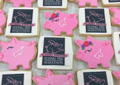 Flying Pig Marathon Cookies | 3 Sweet Girls Cakery