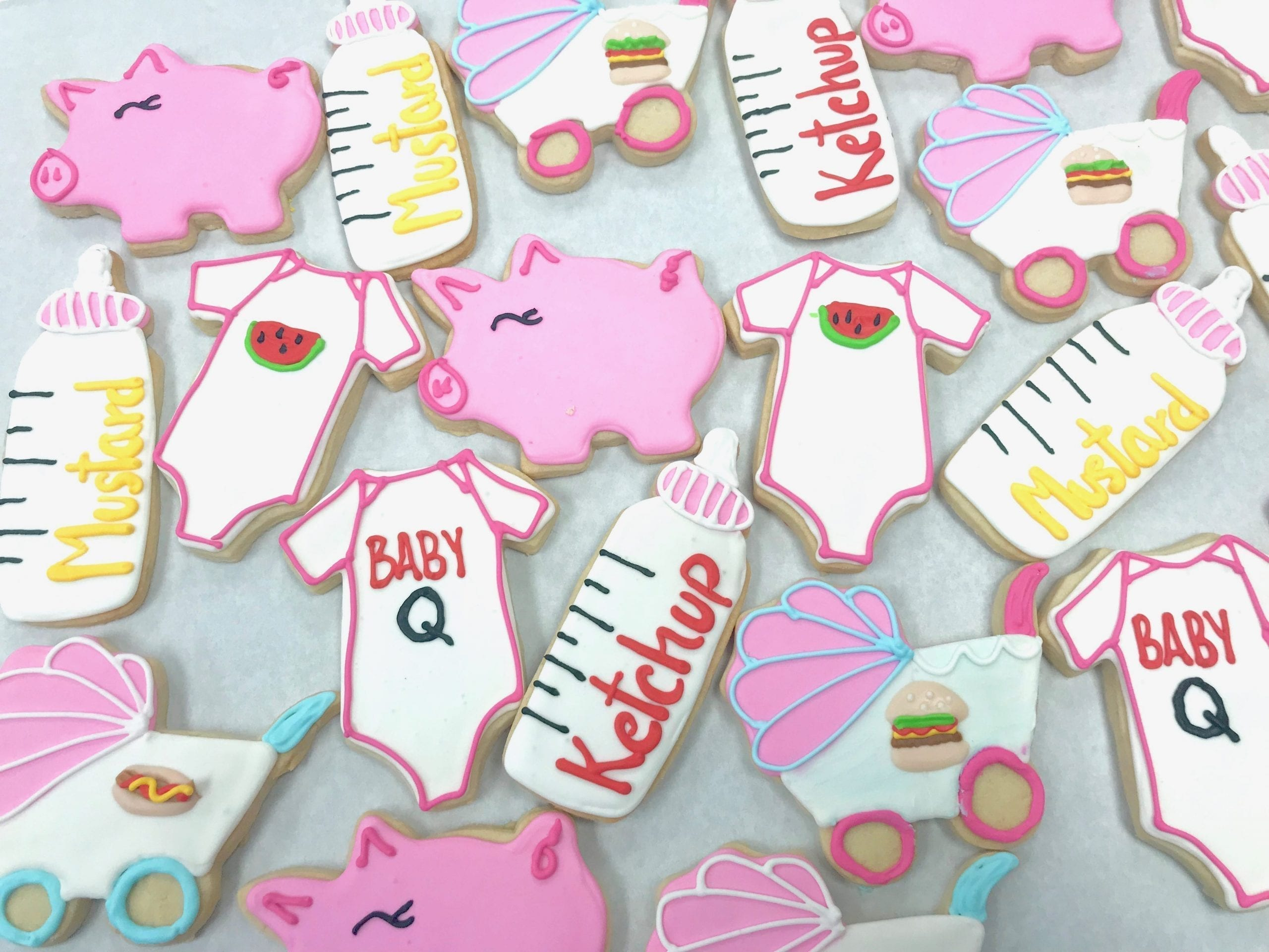 Baby Q Baby Shower Cookies | 3 Sweet Girls Cakery