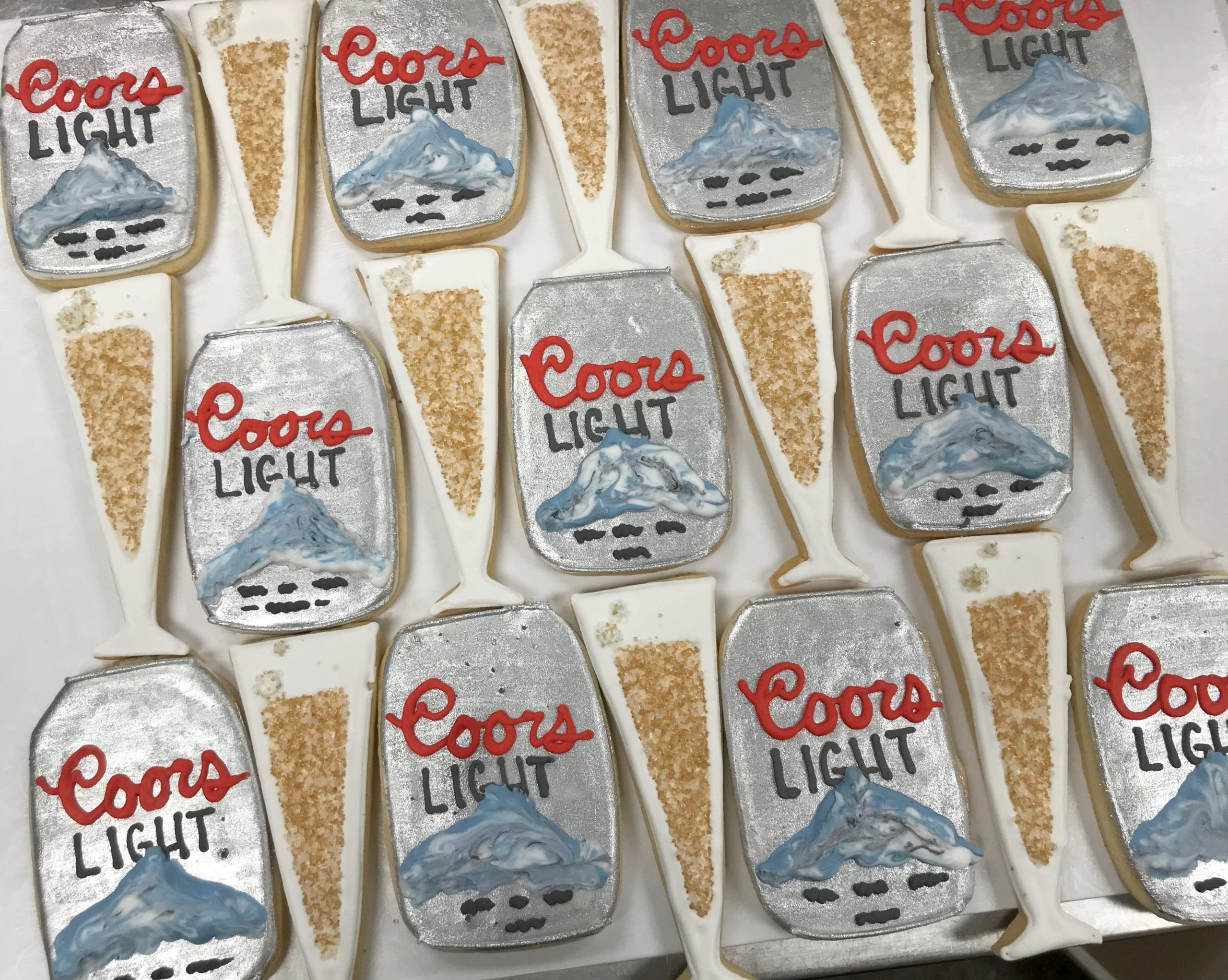 Coors Light Beer and Champagne Cookies | 3 Sweet Girls Cakery