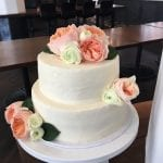 Rustic Wedding Cake with Peonies