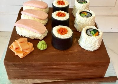 Sushi Groom's Cake | 3 Sweet Girls Cakery