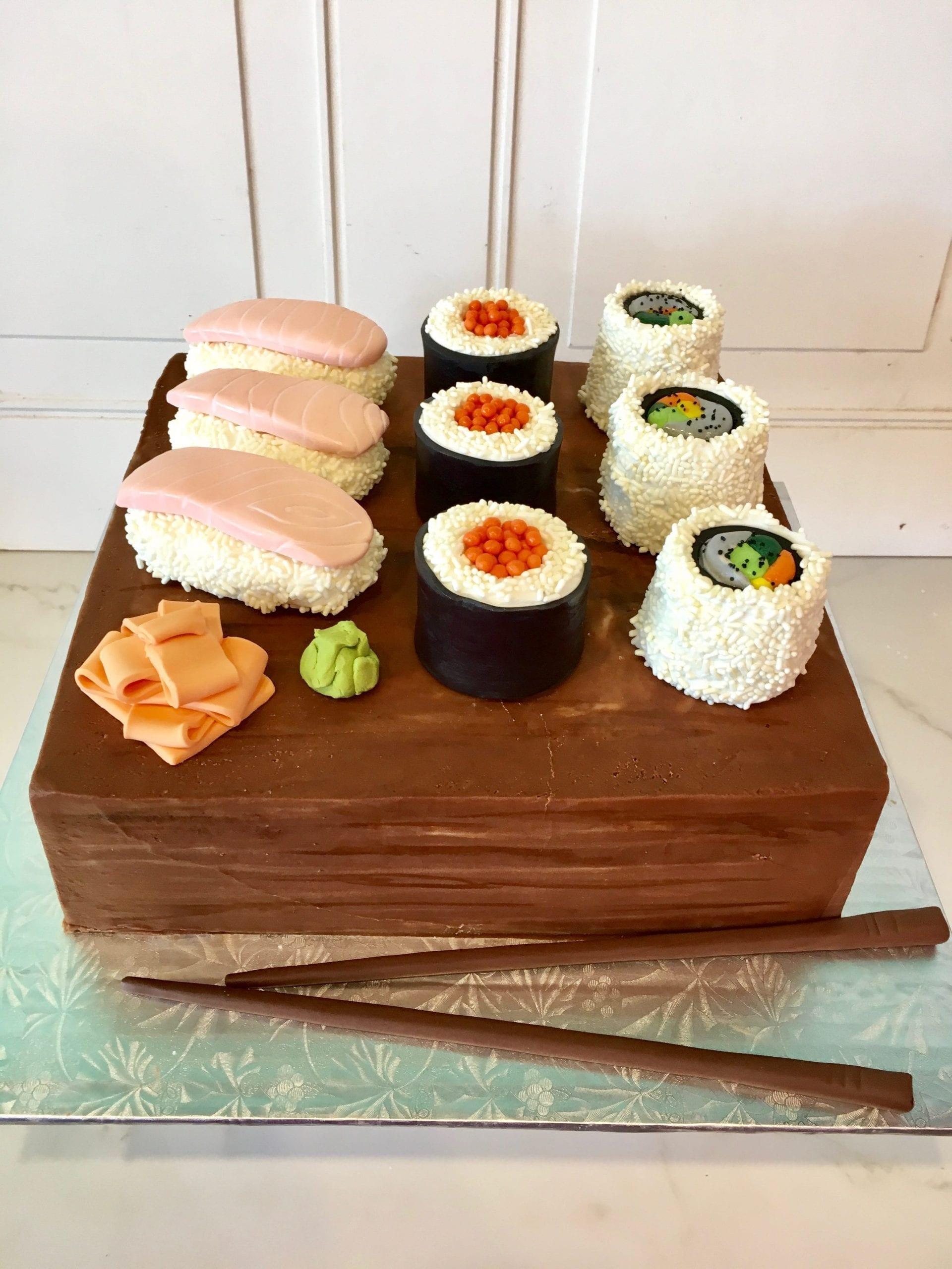 Sushi Groom's Cake | 3 Sweet Girls Cakery