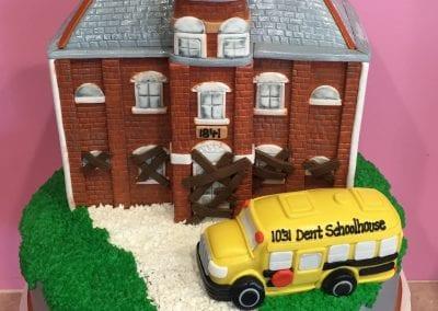 Dent Schoolhouse Halloween Cake | 3 Sweet Girls Cakery