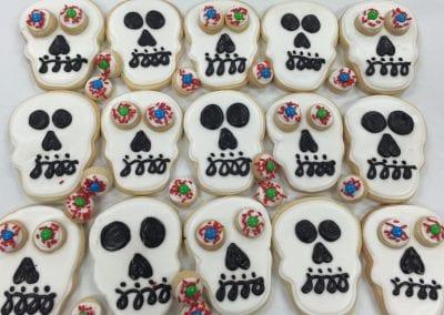Skull and Eye Ball Cookies