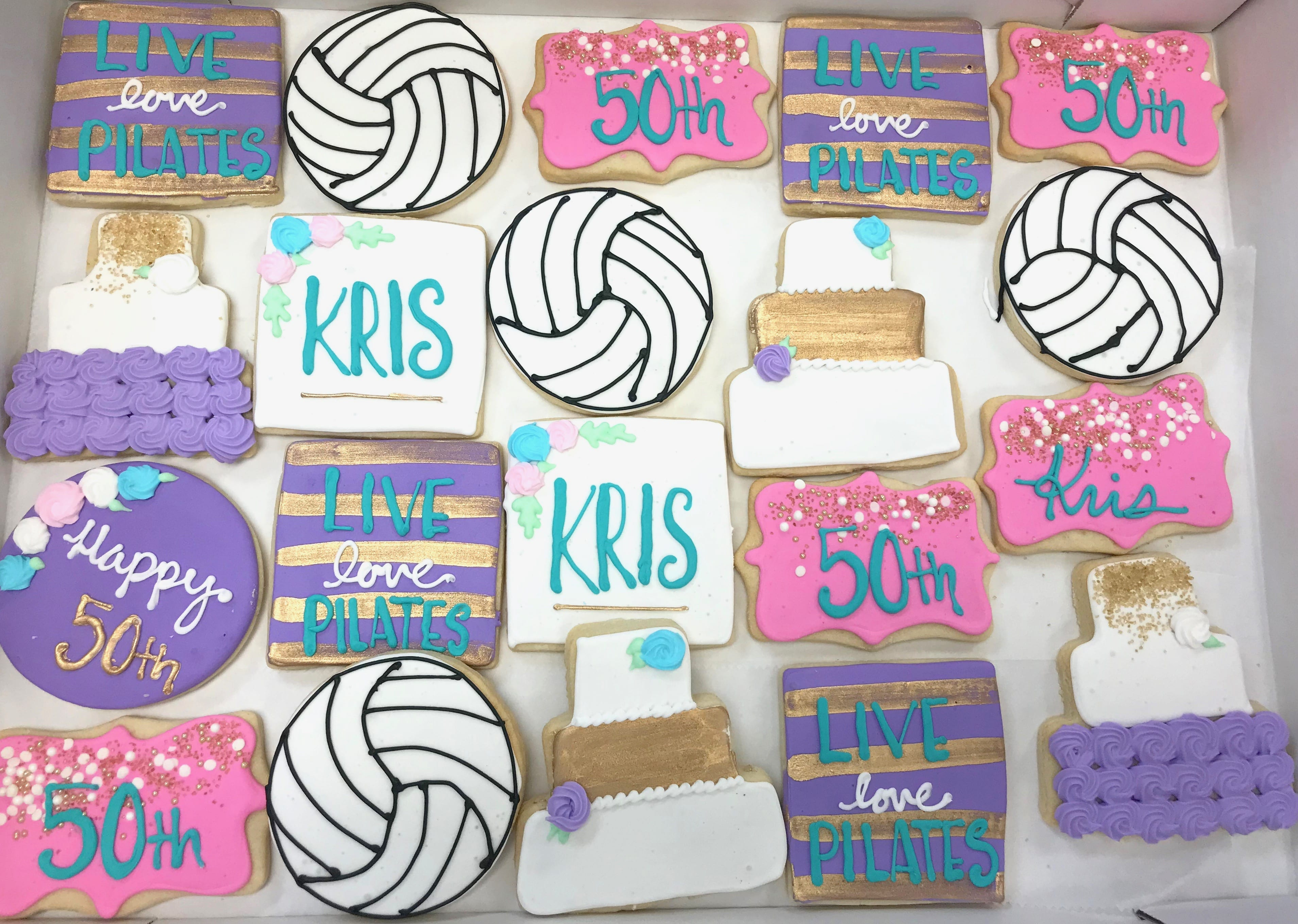 Soccer and Pilates Cookies | 3 Sweet Girls Cakery