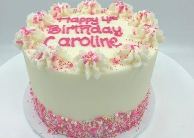 Pink Sprinkle Birthday Cake | 3 Sweet Girls Cakery
