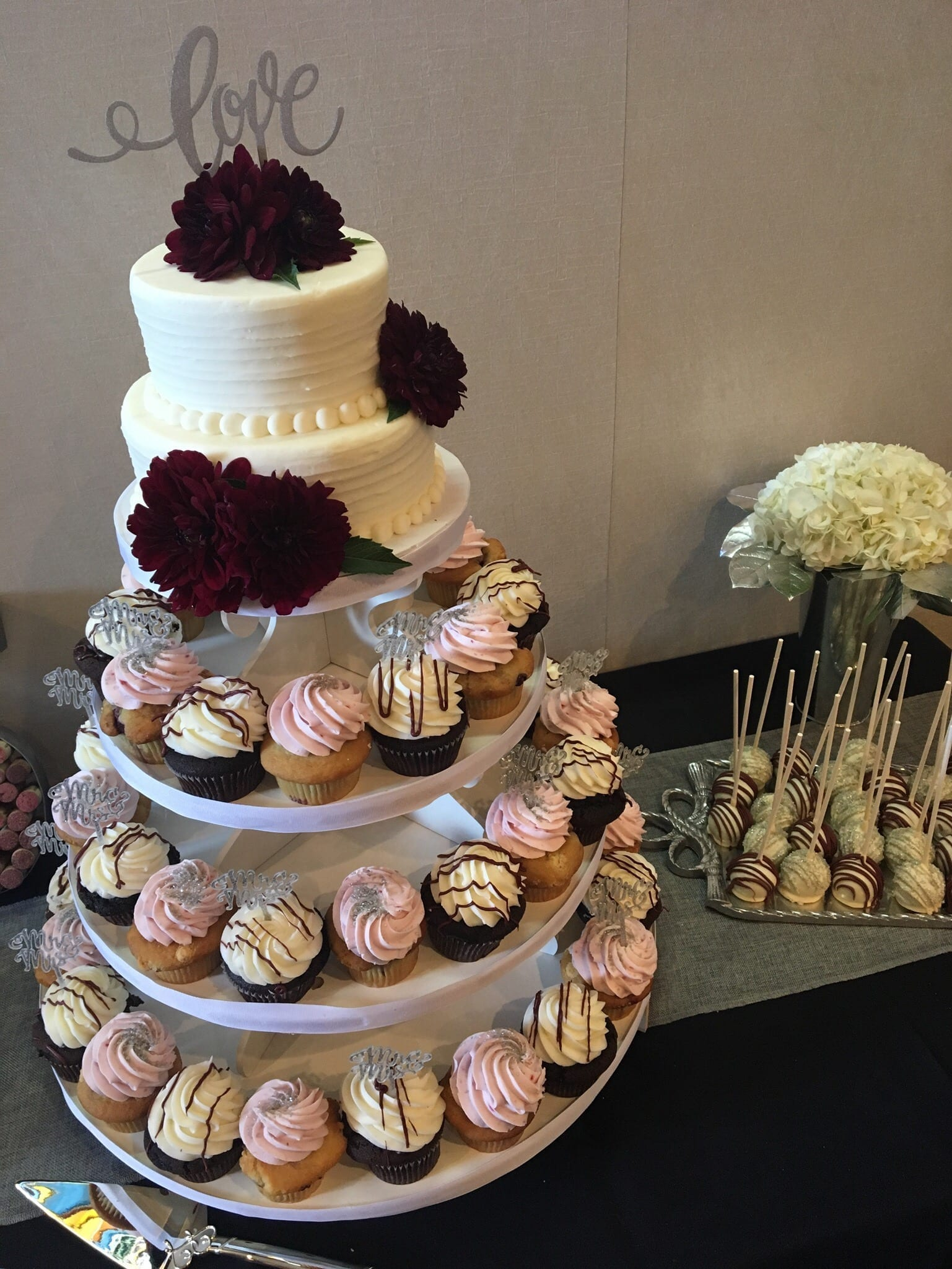Wedding Dessert Table at The Marmalade Lily | 3 Sweet Girls Cakery