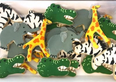 Safari Animal Cookie Platter | 3 Sweet Girls Cakery