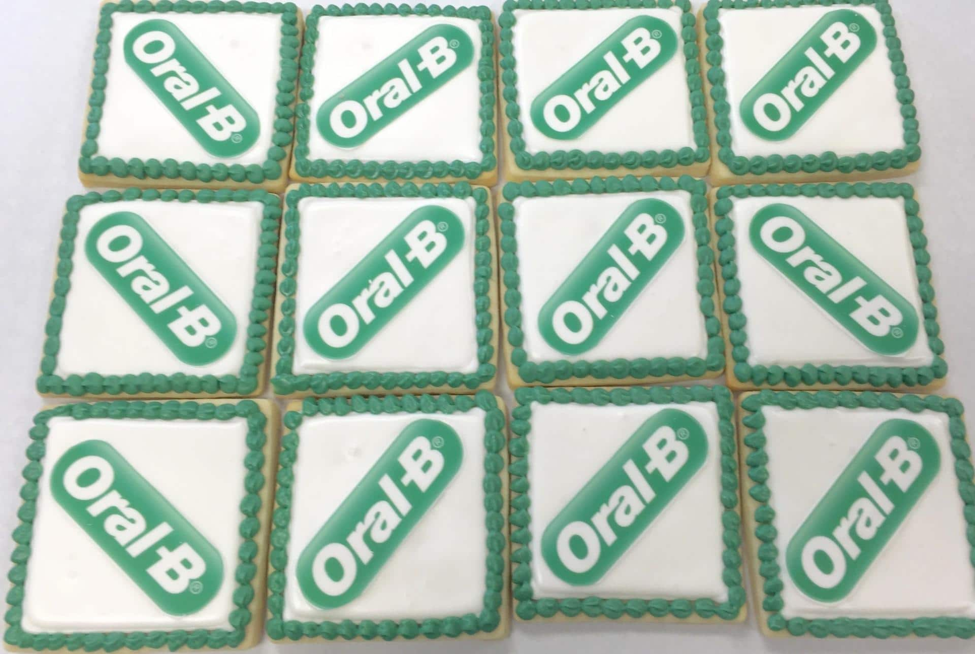 Oral B Corporate Logo Cookies