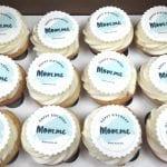 Mom.me Logo Cupcakes