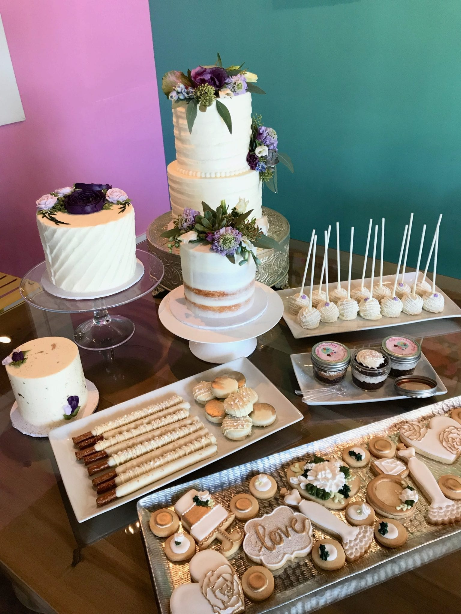 Wedding Dessert Display at 3 Sweet Girls Cakery | 3 Sweet Girls Cakery