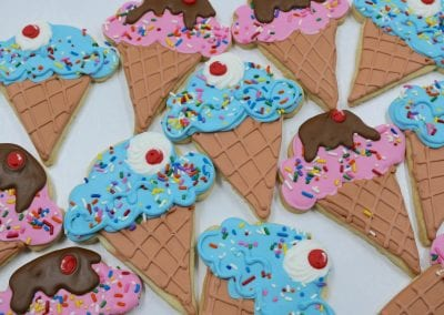Ice Cream Cone Cookies | 3 Sweet Girls Cakery