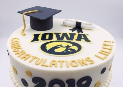 Iowa Graduation Cake | 3 Sweet Girls Cakery