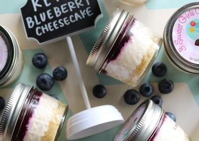 Keto Blueberry Cheesecake | 3 Sweet Girls Cakery
