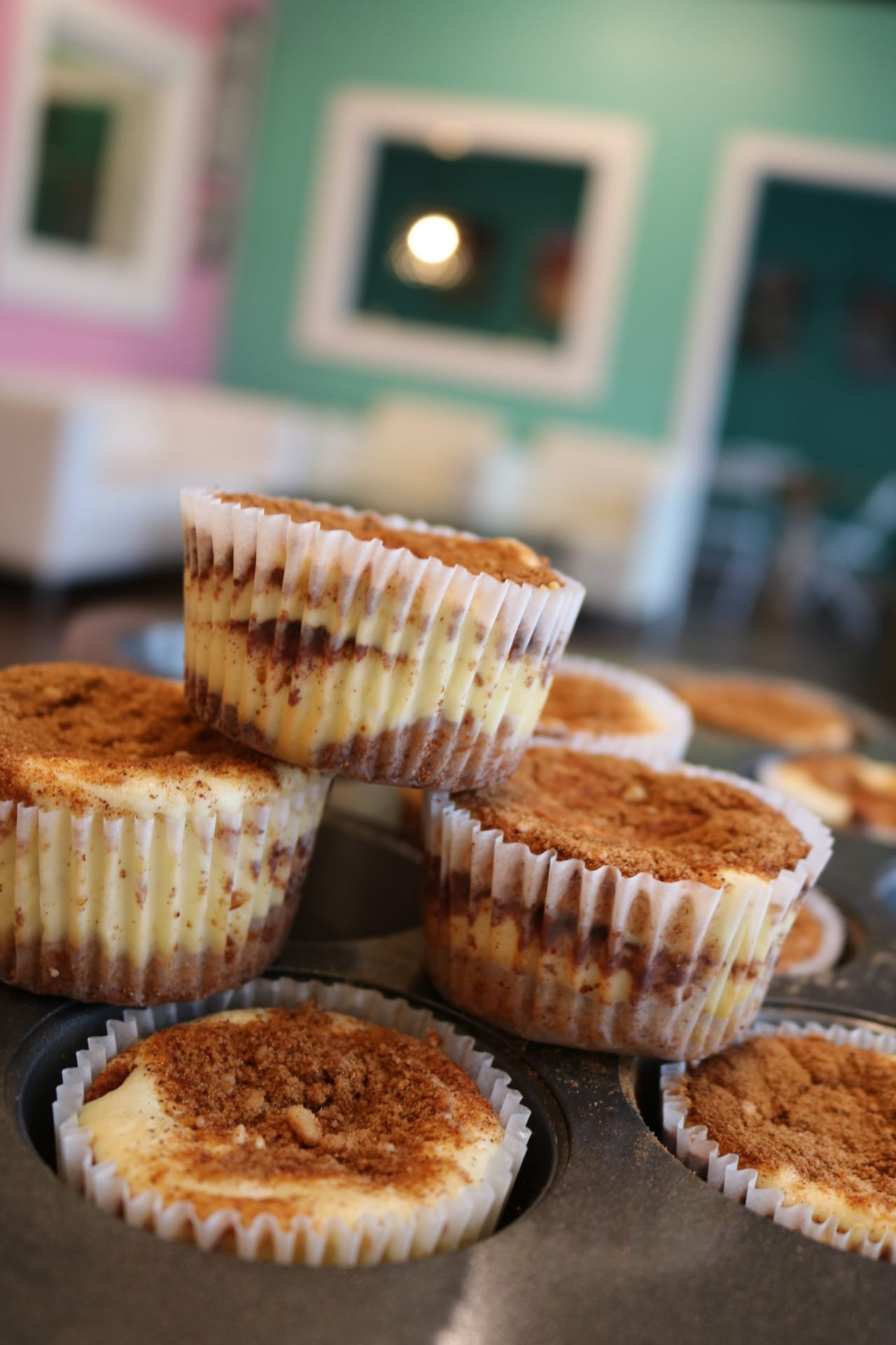 Keto Cinnamon Sugar Cheesecakes | 3 Sweet Girls Cakery