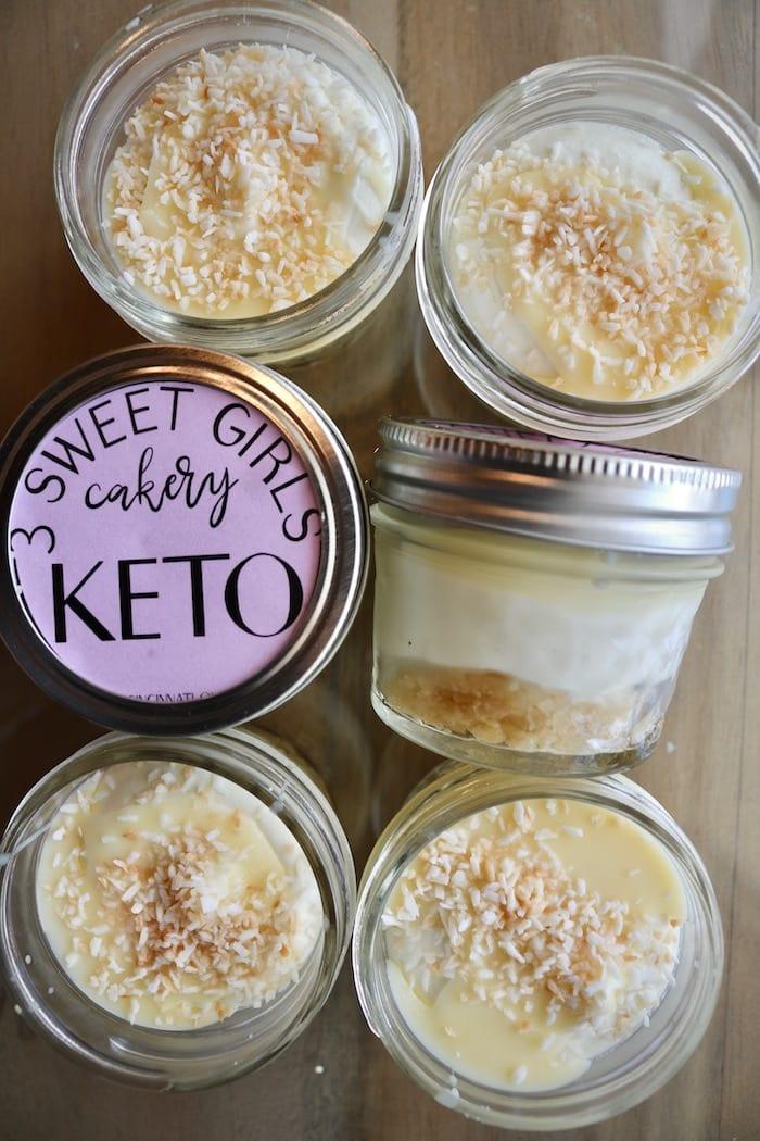 Keto Key Lime Cheesecake in a Jar | 3 Sweet Girls Cakery