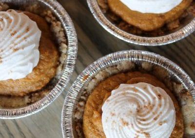 Keto Mini Pumpkin Pies with Whipped Cream | 3 Sweet Girls Cakery