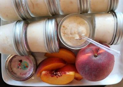 Keto Peach Ice Cream | 3 Sweet Girls Cakery