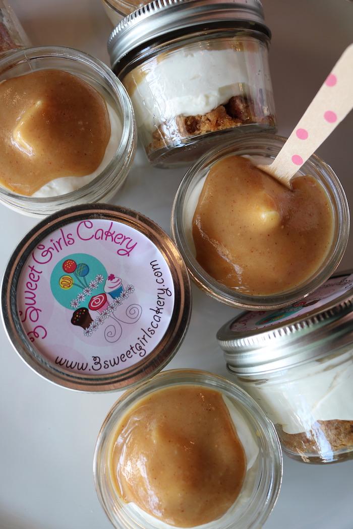 Keto Peanut Butter White Chocolate Cheesecake Jar | 3 Sweet Girls Cakery