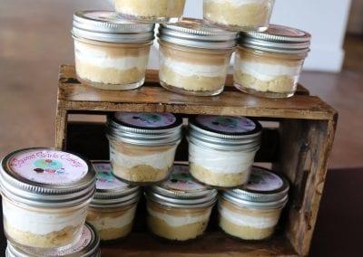 Keto Salted Caramel Cheesecake Jars | 3 Sweet Girls Cakery