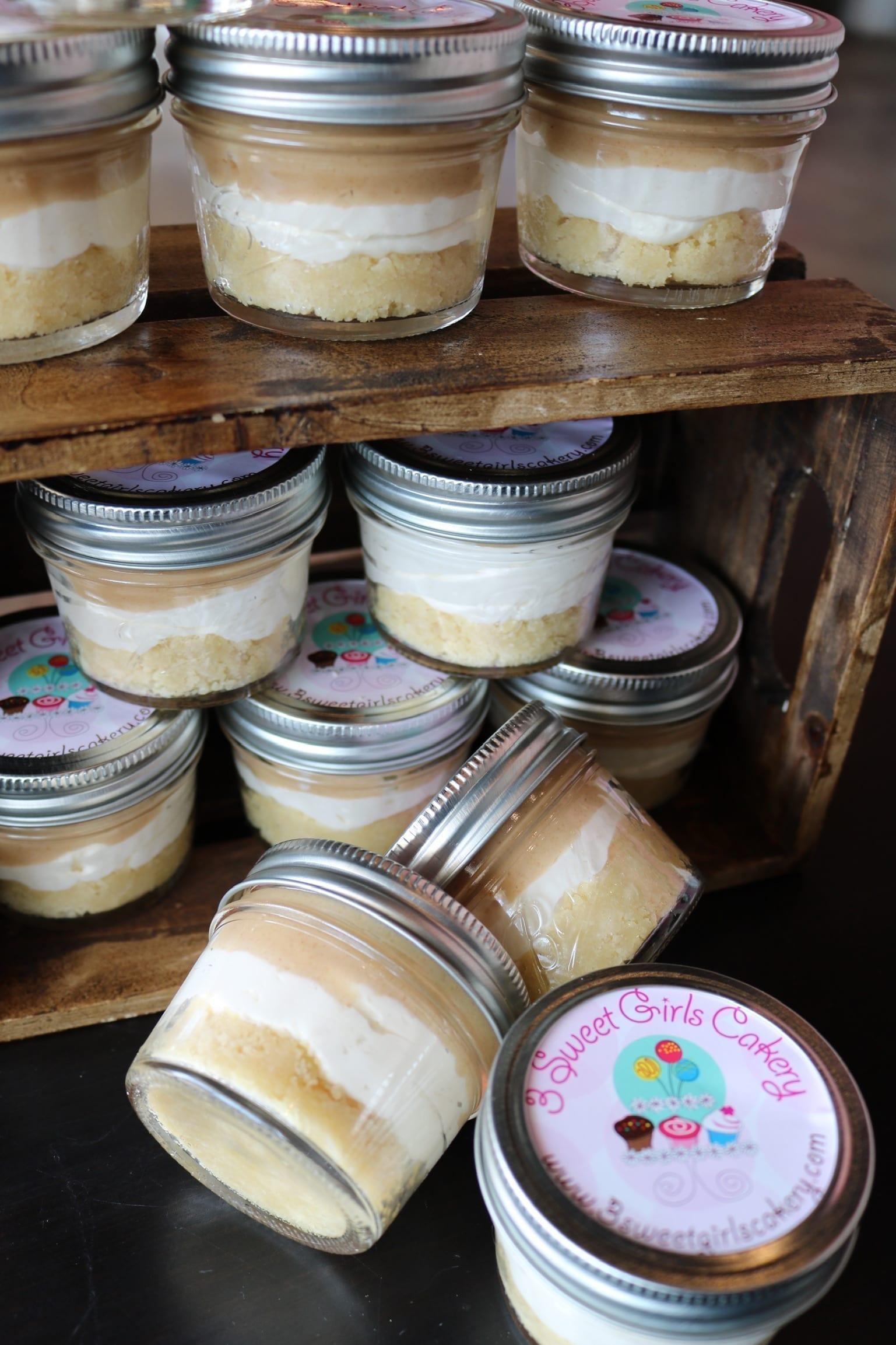 Keto Salted Caramel Cheesecake in a Jar | 3 Sweet Girls Cakery