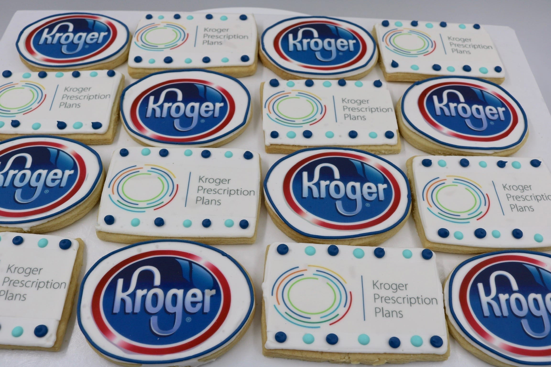 Kroger Corporate Logo Cookies | 3 Sweet Girls Cakery