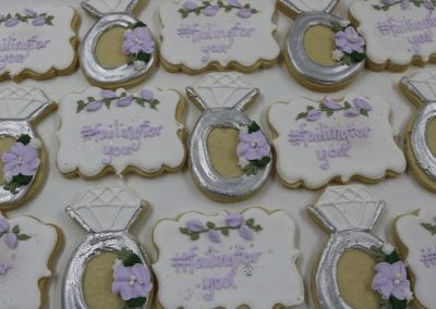 Lavender, White and Silver Wedding Shower Cookies | 3 Sweet Girls Cakery