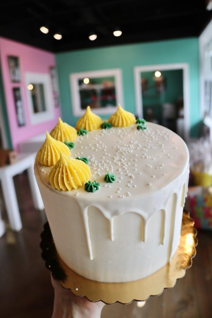 Lemon Drip Cake   3 Sweet Girls Cakery