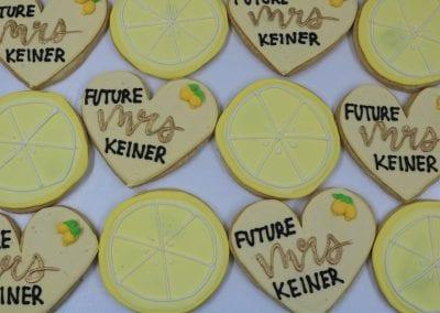 Lemon Future Mrs Bridal Shower Cookies | 3 Sweet Girls Cakery