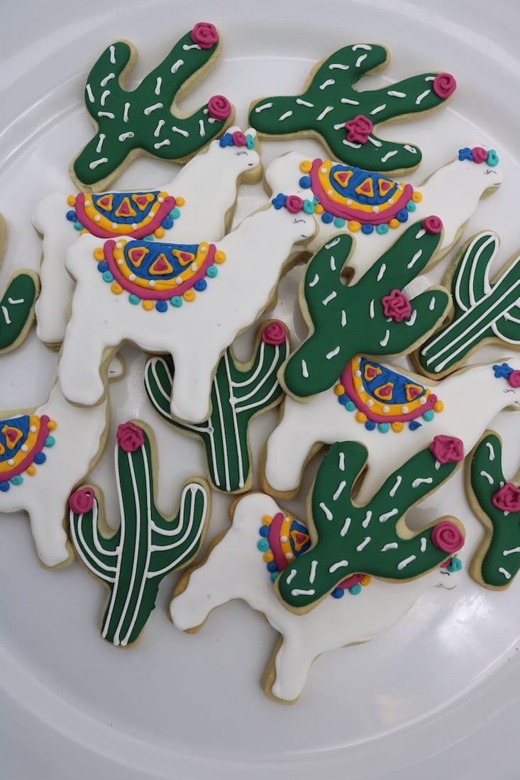 Llama and Cactus Cookies | 3 Sweet Girls Cakery