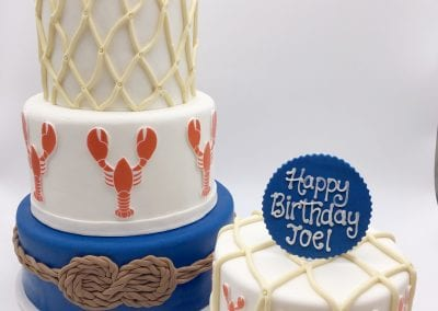 Lobster Bake Birthday Cake | 3 Sweet Girls Cakery