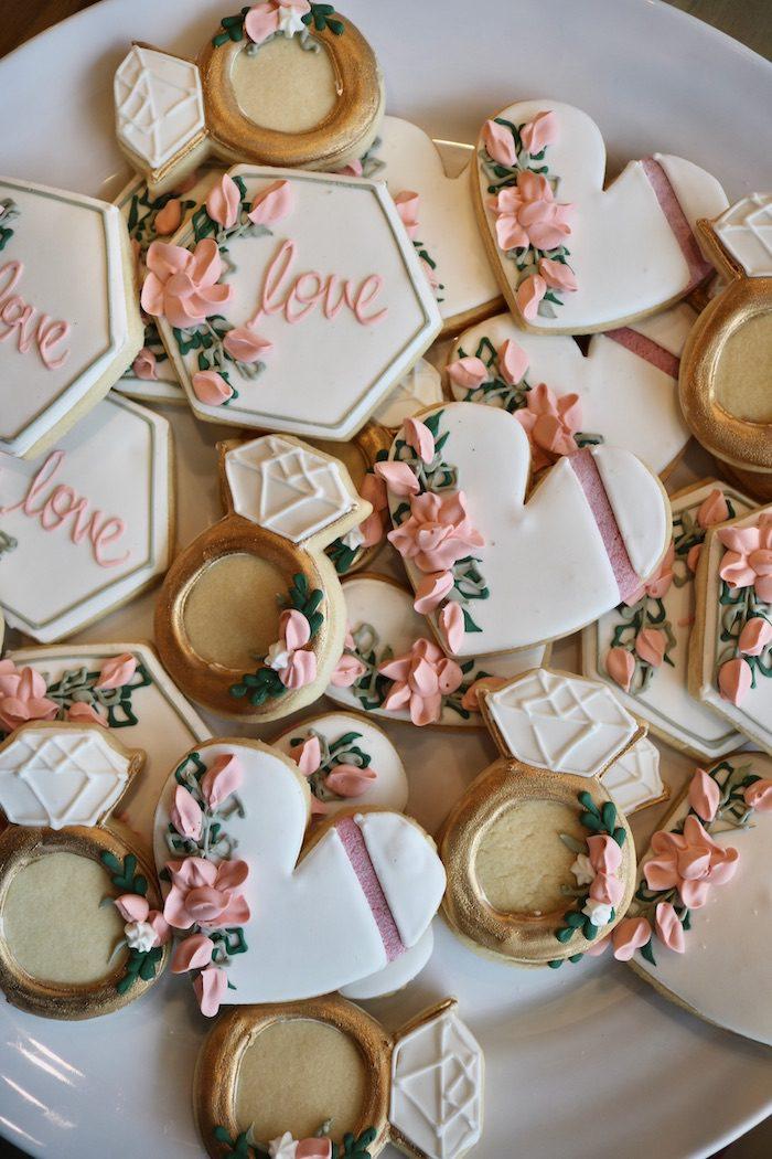 Love Bridal Shower Cookies   3 Sweet Girls Cakery