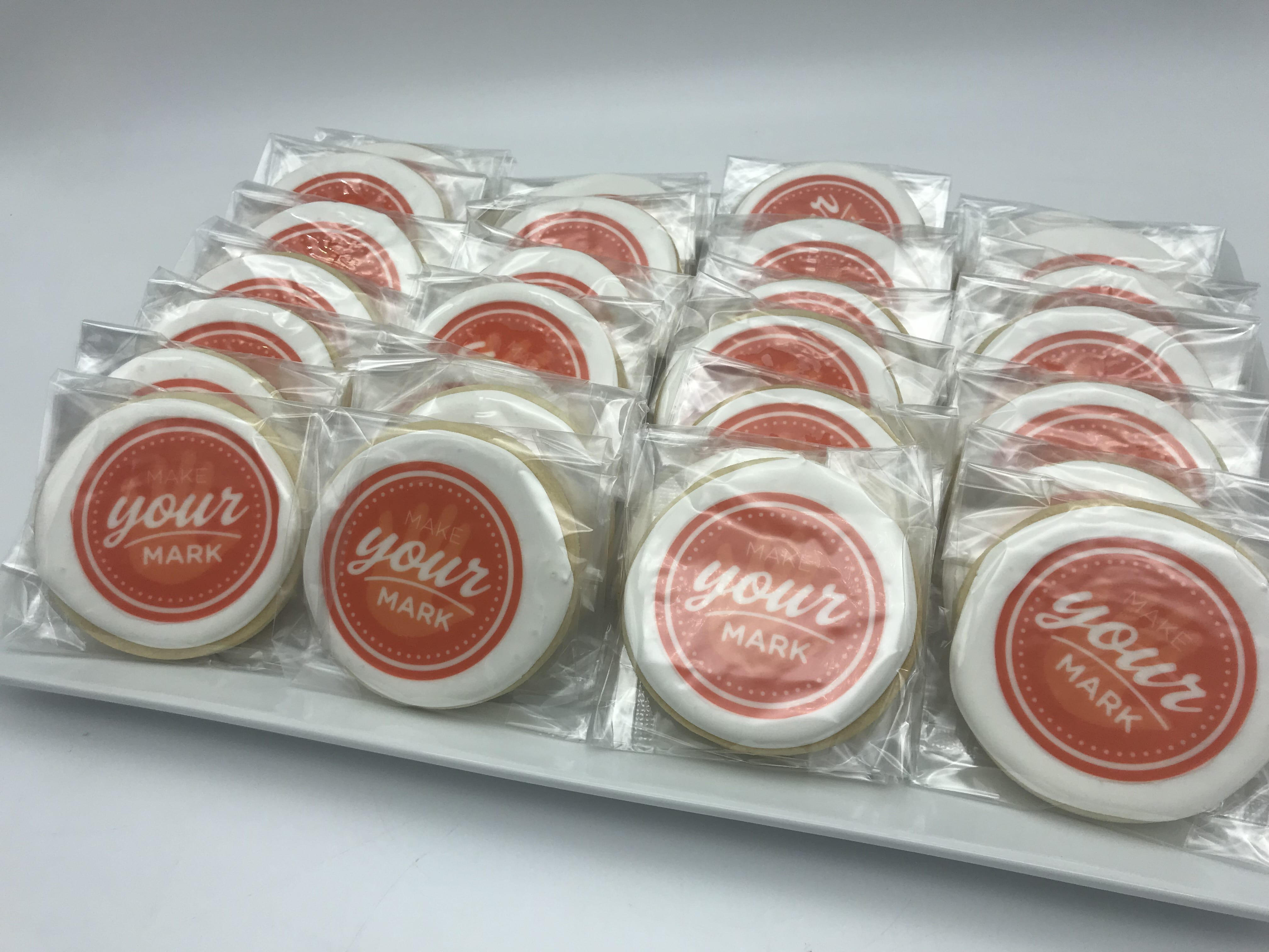 Make Your Mark Corporate Logo Cookie for P&G | 3 Sweet Girls Cakery
