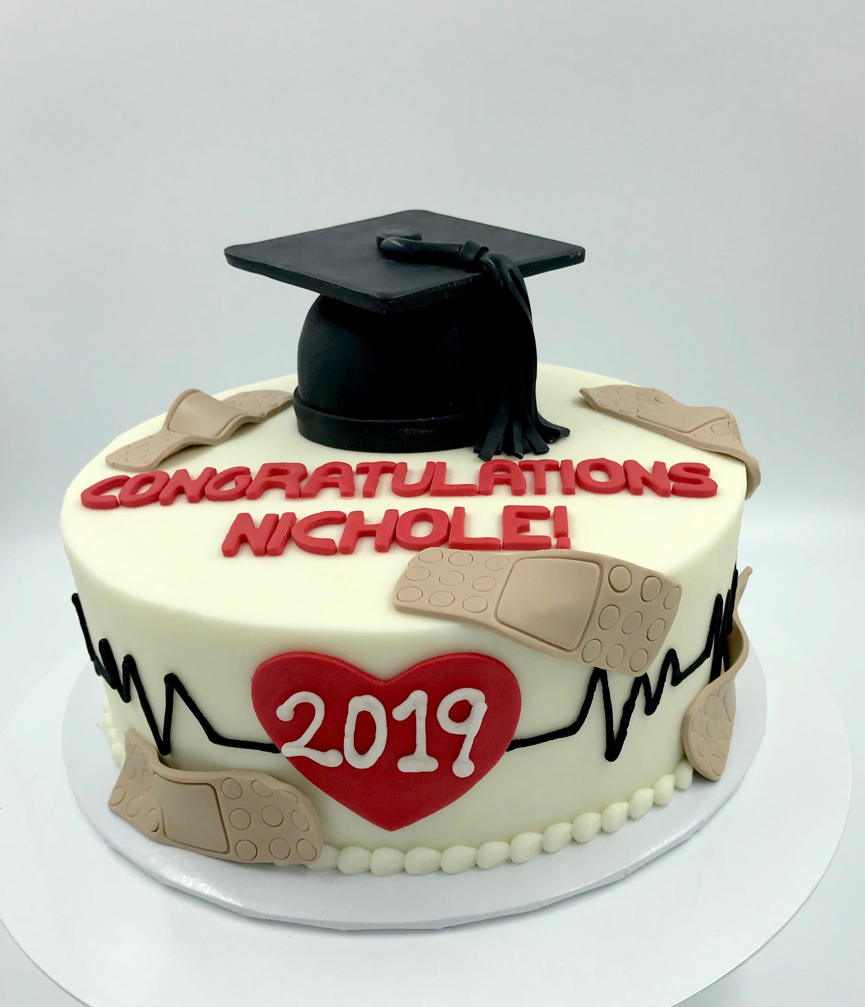 Medical Graduation Cake | 3 Sweet Girls Cakery
