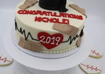Medical School Graduation Cake and Cookies | 3 Sweet Girls Cakery