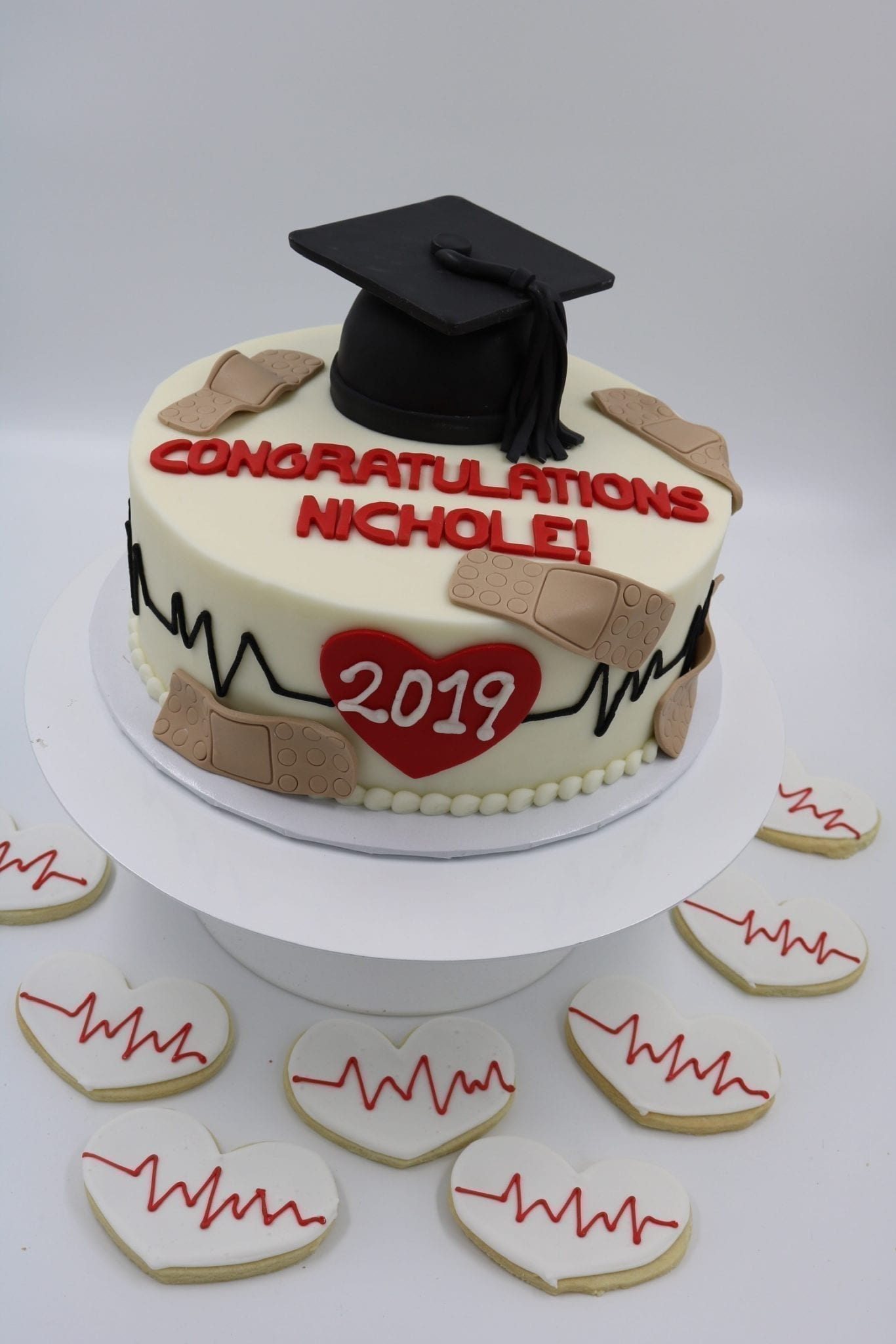 Medical School Graduation Cake and Cookies | 3 Sweet Girls Cakery