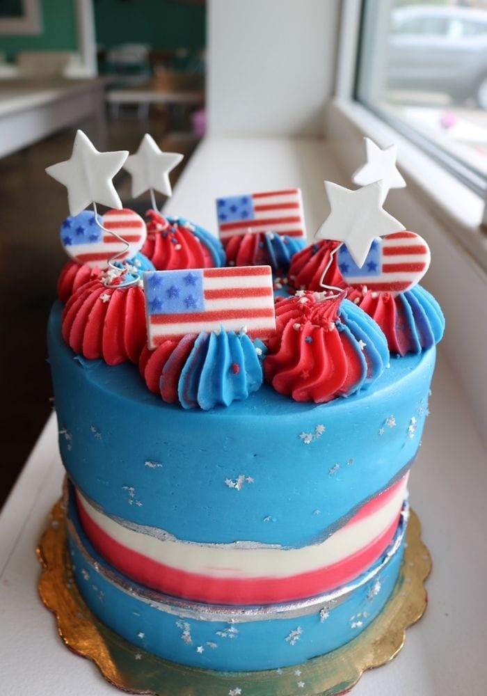 Memorial Day cake | 3 Sweet Girls Cakery