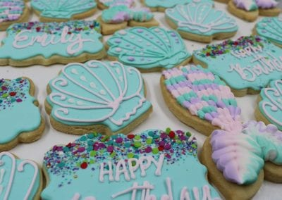 Mermaid Tail and SeaShell Cookies | 3 Sweet Girls Cakery