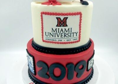 Miami Graduation Cake | 3 Sweet Girls Cakery