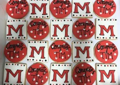 Miami Graduation Cookies | 3 Sweet Girls Cakery