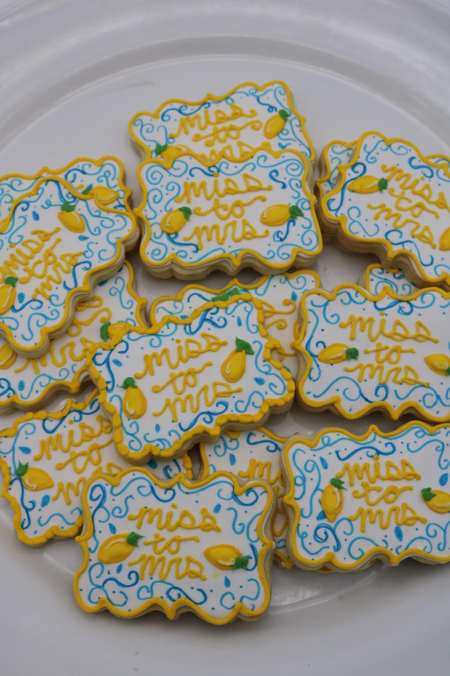 Miss to Mrs Lemon Cookies | 3 Sweet Girls Cakery