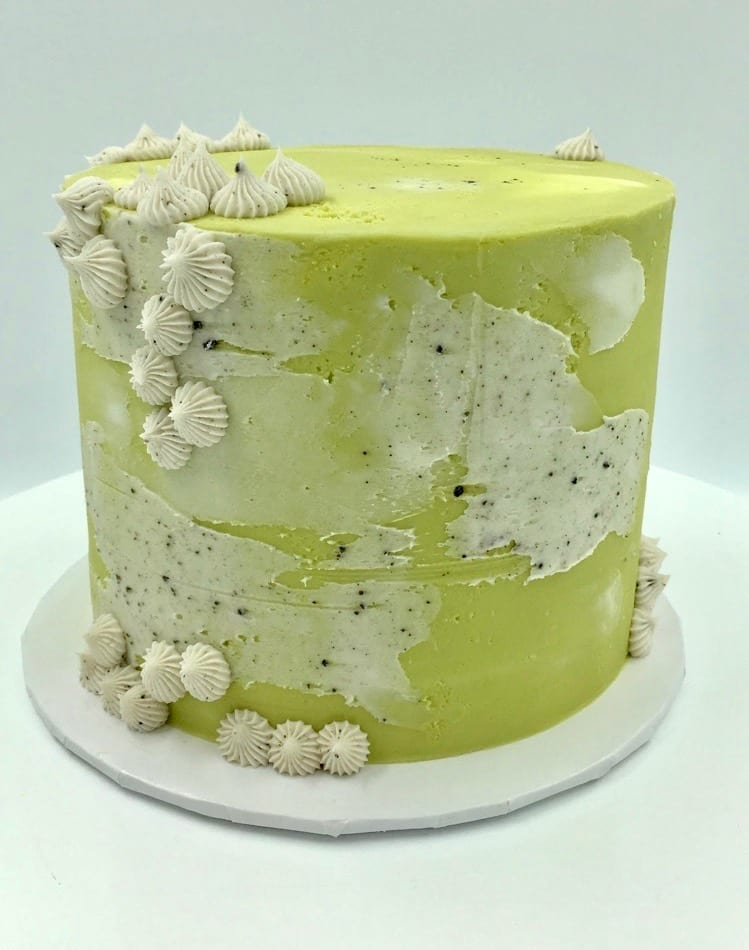 Modern Green and Beige Cake | 3 Sweet Girls Cakery