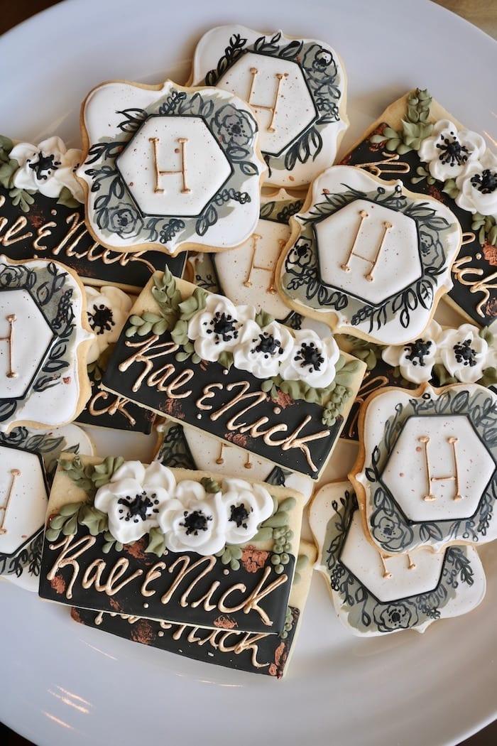 Monogram Wedding Cookies | 3 Sweet Girls Cakery