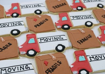 Moving Truck and Moving Box Cookies | 3 Sweet Girls Cakery